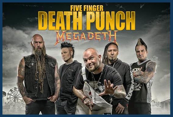 Five Finger Death Punch・Megadeth