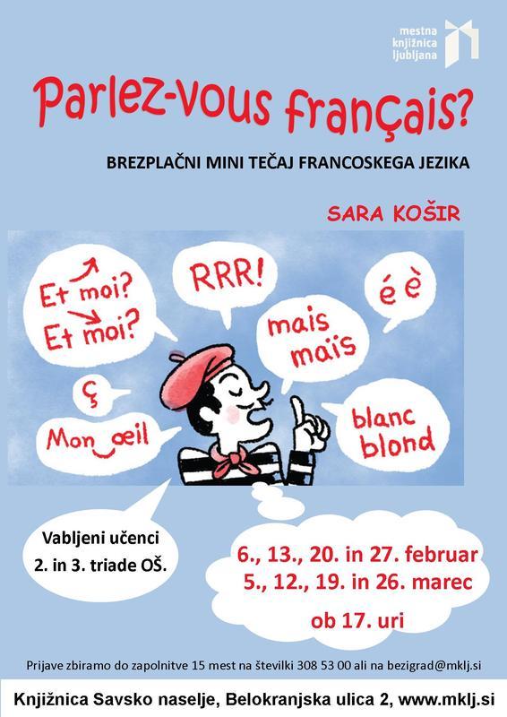 Parlez-vous francais?: tečaj francoskega jezika
