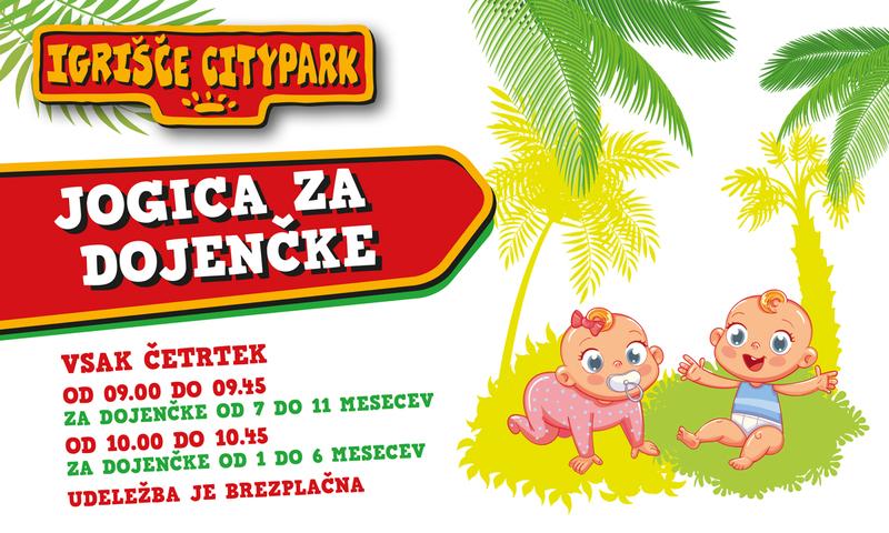 Brezplačna četrtkova jogica za otroke v Cityparku